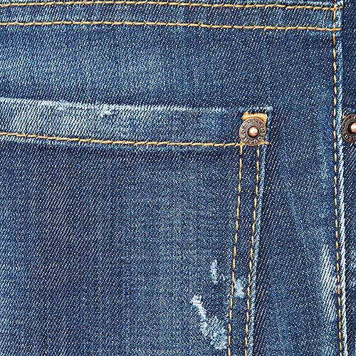 Потертые джинсы Dsquared2 синего цвета, фото