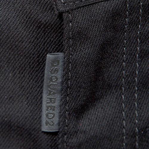 Джинсы Dsquared2 черные с низкой посадкой, фото