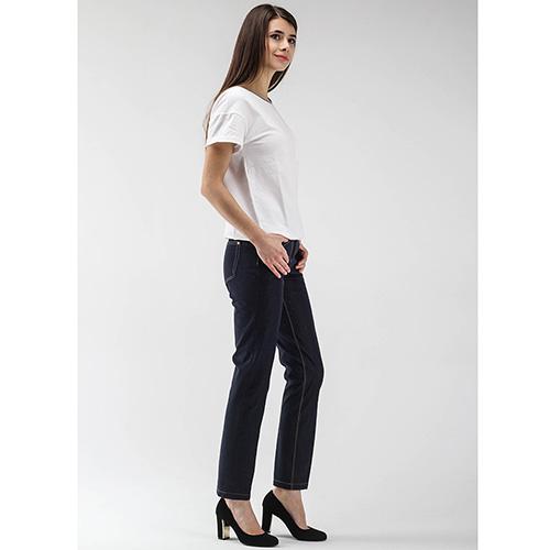 Синие зауженные джинсы Peserico по косточку, фото