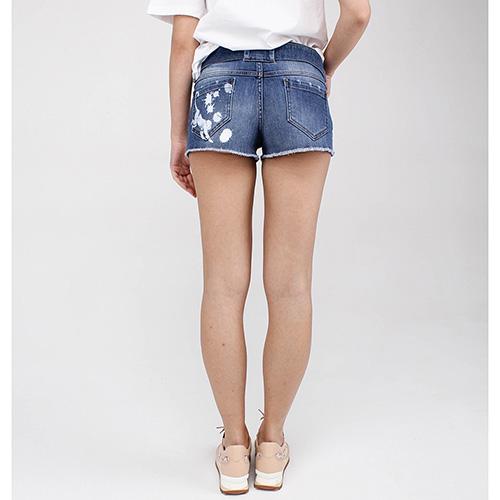 Шорты Red Valentino с джинсовым поясом, фото
