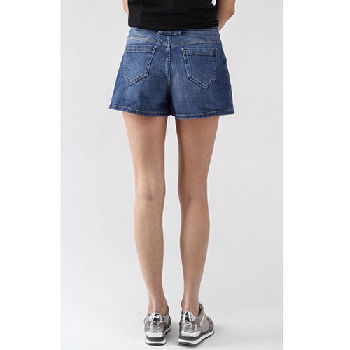 Юбка-шорты из джинса Red Valentino синего цвета, фото