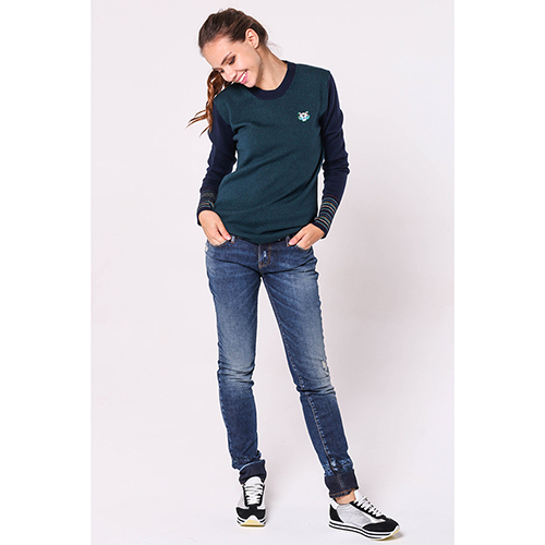 Прямые джинсы Emporio Armani синего цвета, фото