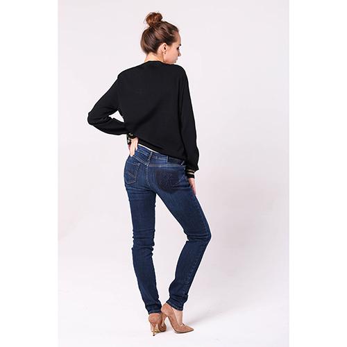 Узкие синие джинсы Emporio Armani с низкой посадкой, фото