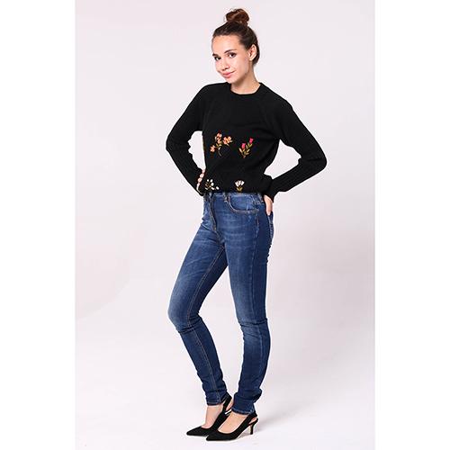 Синие джинсы Elisabetta Franchi с потертостями, фото