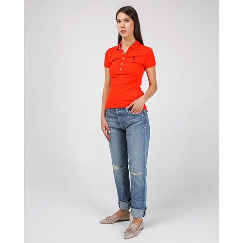 Голубые рваные джинсы-бойфренды Polo Ralph Lauren, фото