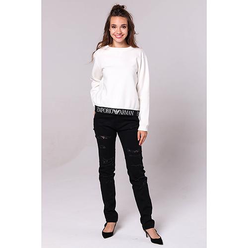 Рваные черные джинсы Love Moschino с кружевом, фото