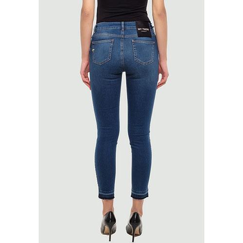 Синие джинсы Twin-Set с заклепками, фото