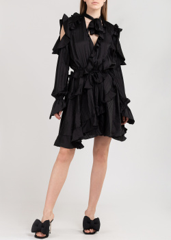 Коктейльное платье на запах Off-White с рюшами, фото