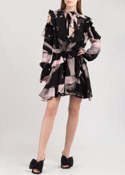 Двухцветное платье Off-White с вырезами на плечах, фото