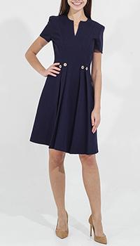Синее платье Sandro Ferrone с расклешенной юбкой, фото