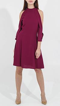 Платье Sandro Ferrone с открытыми плечами и воланами, фото