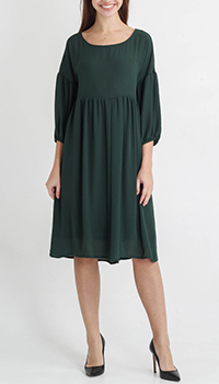 Платье Tensione in с юбкой-клеш зеленого цвета, фото