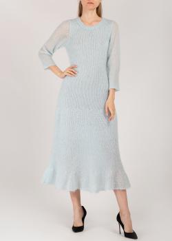 Голубое платье Dorothee Schumacher с длинным рукавом, фото