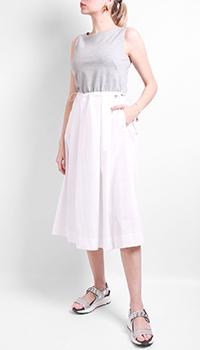Платье-миди Airfield бело-серого цвета, фото