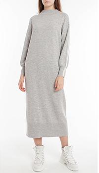 Шерстяное платье Laurel серого цвета, фото