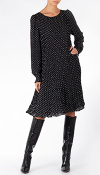 Черное платье Weill в горох, фото