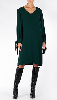 Зеленое платье Weill с широкими рукавами, фото