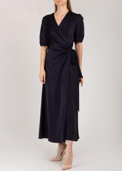 Атласное платье Riani синего цвета, фото