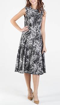Платье Shako черно-белого цвета с цветочным принтом, фото