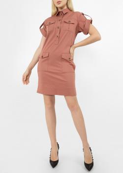 Коричневое платье-рубашка Etro с накладными карманами, фото
