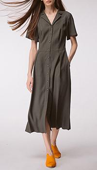 Платье-рубашка Shako цвета хаки, фото