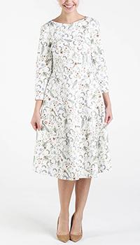 Белое платье Shako с цветочным принтом, фото
