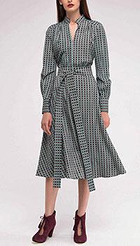 Бирюзовое платье Shako с принтом, фото