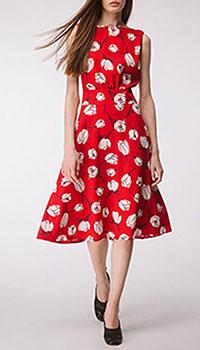 Красное платье Shako с разрезом на спине, фото