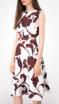Платье белого цвета Shako с цветочным принтом, фото