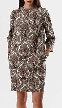 Шелковое платье Shako с орнаментом, фото