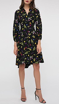 Платье Shako черного цвета с цветочным принтом, фото