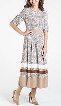 Платье Shako с пышной юбкой бежевого цвета, фото
