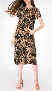 Платье свободного кроя Shako с листами папоротника, фото