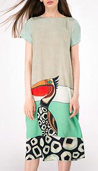Платье-миди с туканом Shako свободного кроя, фото