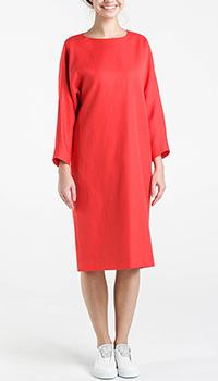 Красное платье Shako свободного кроя с длинным рукавом, фото