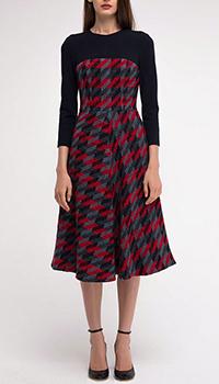 Платье Shako с фактурно юбкой в клетку, фото