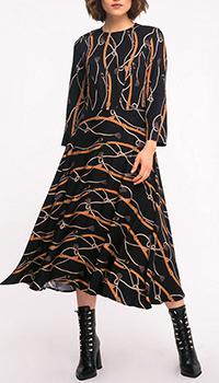 Повседневное платье Shako с принтом черного цвета, фото