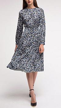 Платье серое Shako со вшитым поясом, фото