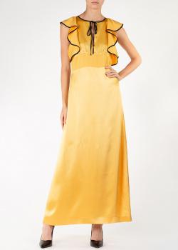 Желтое платье Alexa Chung с воланами на плечах, фото