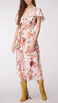 Платье молочное Shako с цветочным принтом, фото