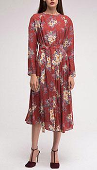 Красное платье Shako с ассиметричной юбкой, фото