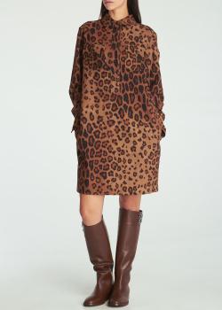 Платье-рубашка Etro с леопардовым принтом, фото