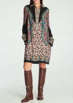 Платье-рубашка Etro из шерсти и шелка, фото