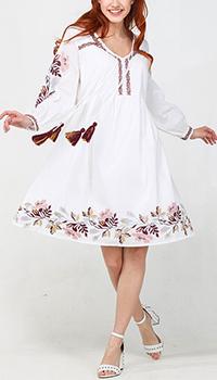 Белое платье Emma&Gaia с пышной юбкой, фото