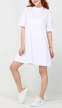 Платье Emma&Gaia белого цвета с рюшами, фото