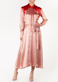 Бежевое платье-рубашка Nina Ricci средней длины, фото