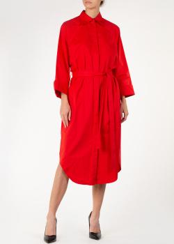 Платье-рубашка Nina Ricci красного цвета, фото