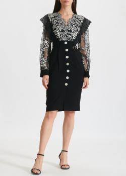 Платье из кружева Three Floor черного цвета, фото