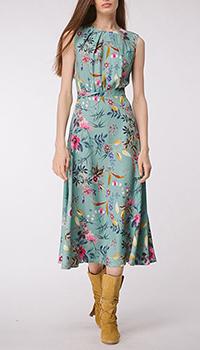 Бирюзовое платье Shako со вшитым поясом, фото