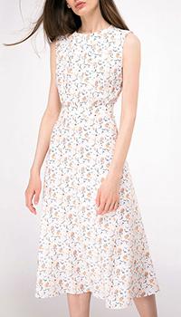 Молочное платье Shako с мелкими цветами, фото